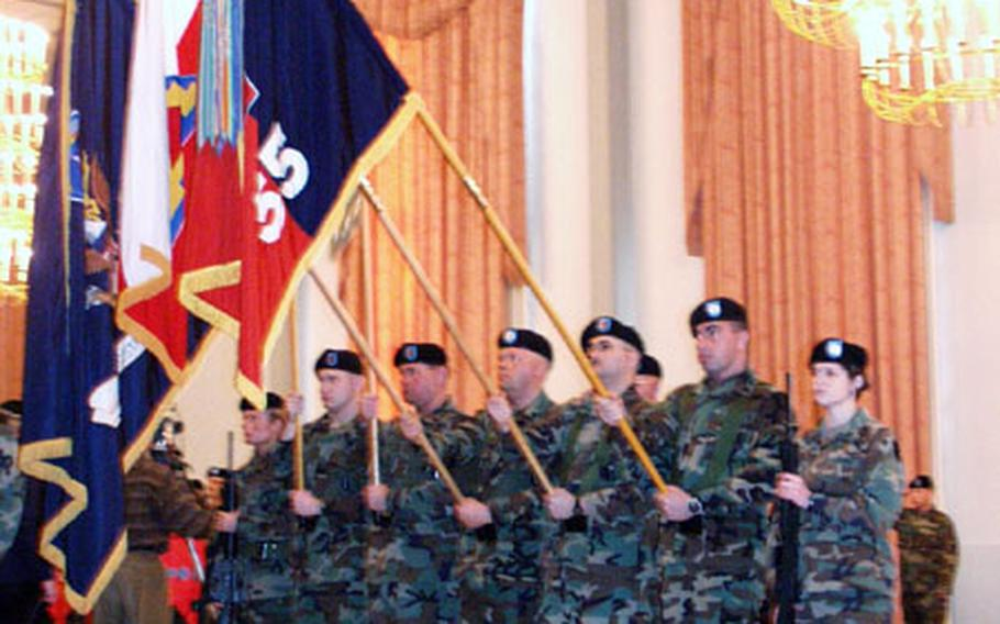 Soldiers from Task Force Keystone held a farewell ceremony Friday at Patrick Henry Village in Heidelberg. The Pennsylvania troops begin rotating home at the end of January.