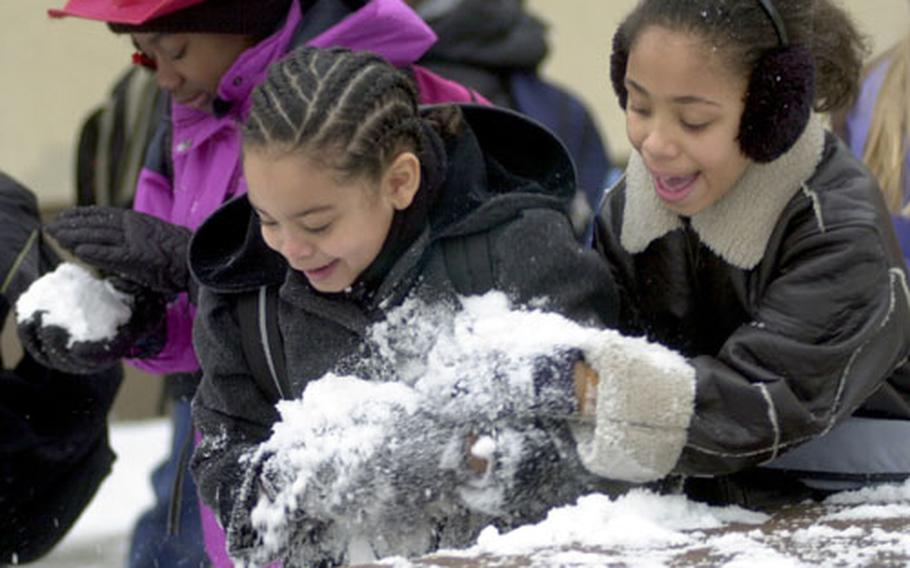 A snowstorm coupled with ice and freezing rain caused several DODDs schools in Germany to close early.