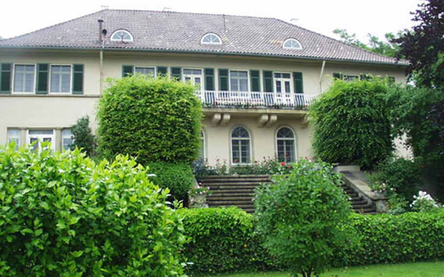 The house that is used as the quarters for the U.S. European Command deputy commander in chief is located in one of Stuttgart's most exclusive neighborhoods and has a commanding view of the city. The building, shown in this file photo, was completed in 1923.
