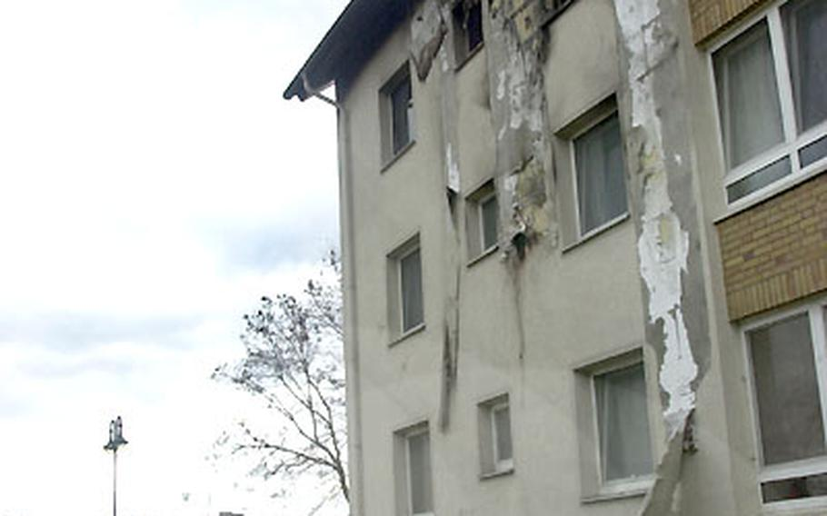 Residents of this Army housing building in Mannheim, Germany, where an apartment fire devastated one sergeant's home Monday night, say they've been complaining about faulty wiring for months.