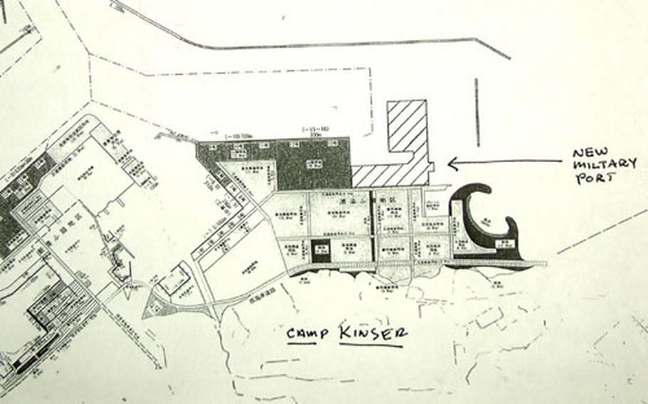 The new Urasoe Military Port would be located on reclaimed land in Urasoe harbor.