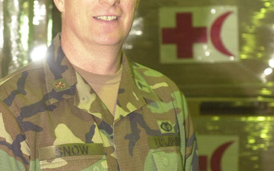 Working with civilian express delivery services and shippers has allowed him to see the big picture, said Major James Snow. Now he knows those companies' techniques, time tables and limitations, he said.