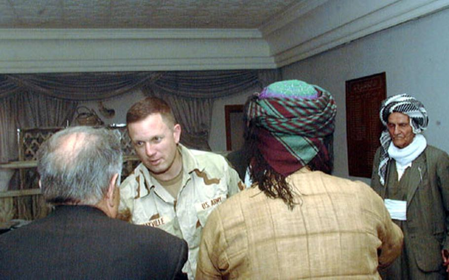 U.S. Army Col. Bill Mayville often meets with local leaders of all walks of life. Several days ago he met with 10 members of the Salhi tribe, whose ancestral land includes the vast oil and natural gas fields north of Kirkuk, Iraq.