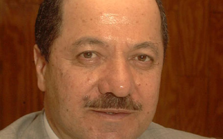 Massoud Barzani, president of the Kurdistan Democratic Party.