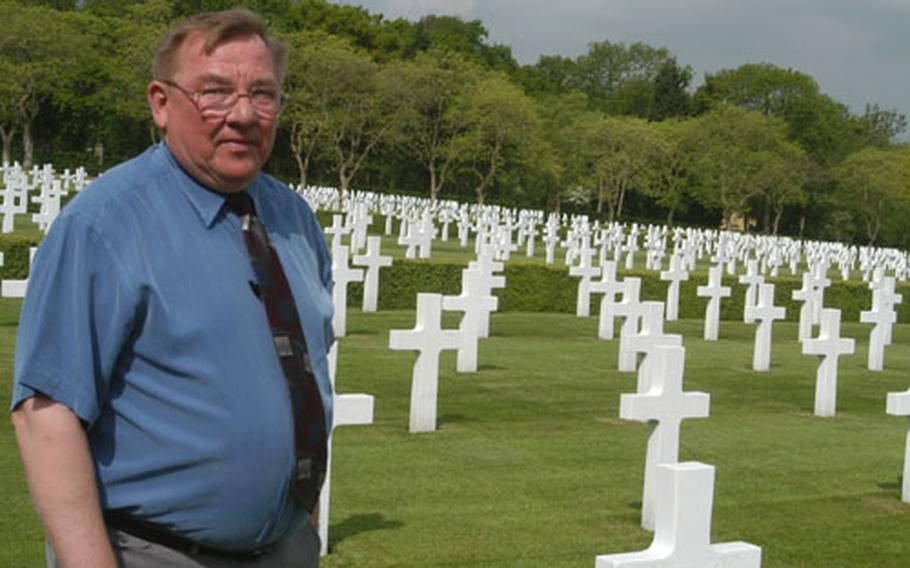 Memorial Day is the biggest day of the year for Jim Schoenecker. He is superintendent of the Cambridge American Cemetery in England, where more than 3,800 Americans are buried.