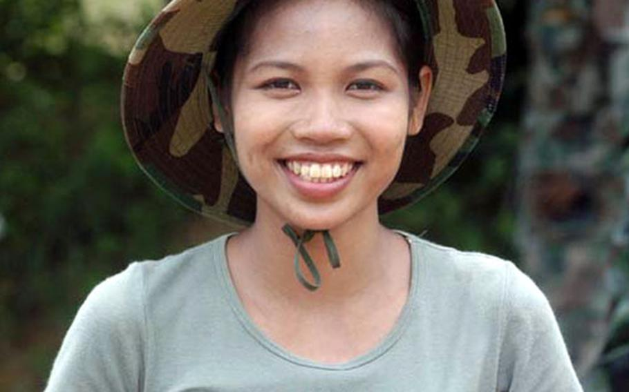 Former Thai Marine Angsana Panruska is working during Cobra Gold in Thailand as a translater. Her English skills and military background make her a perfect translator for the Navy EOD teams.