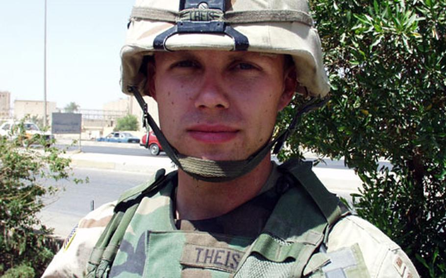 1st Lt. Vern Theis, of 2nd Brigade, 82nd Airborne Division.