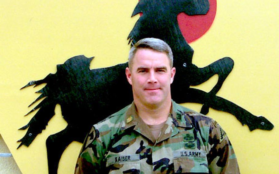 Maj. Rick Kaiser, Combat Maneuver Training Center, Hohenfels.