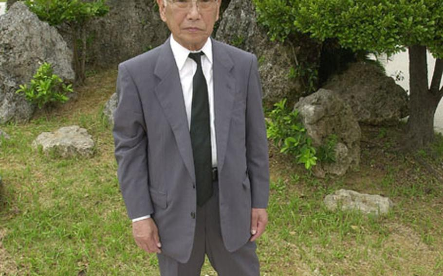 Jo Oka, 79, visited the Peace Prayer Park in Itoman to attend the annual war memorial ceremony Monday. He is the only known survivor of a 1945 massacre in a cave hospital in Haebaru in southern Okinawa in closing days of Battle of Okinawa. More than 2,000 seriously wounded soldiers were poisoned to death with cyanide by their own Army.