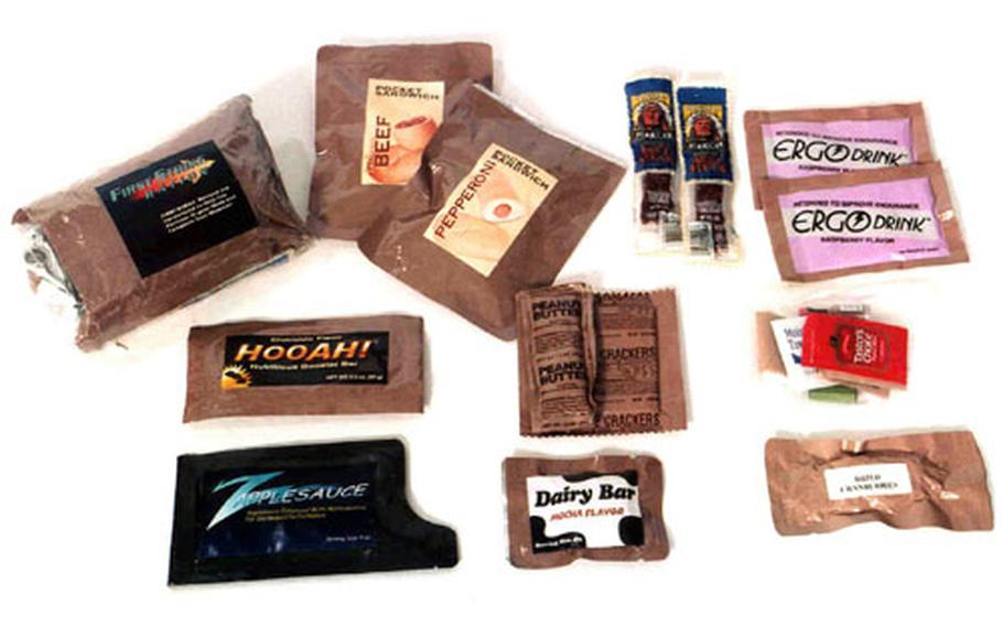 The components photo shows the mix of items in the new ration.