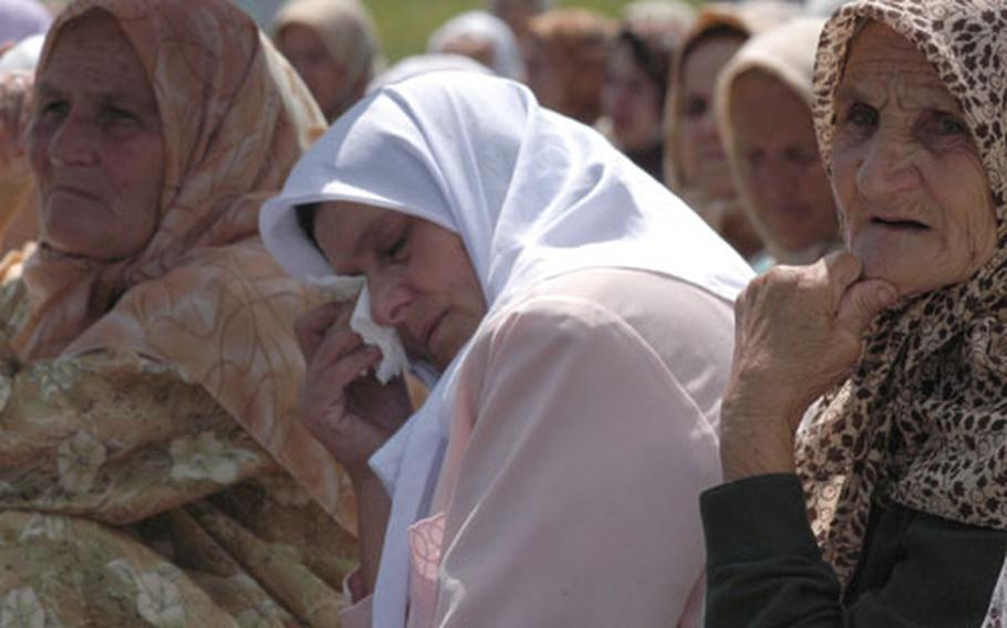 At the commemoration ceremony Friday, a second group of identified victims exhumed from mass graves, 282 Muslim boys and men, were buried according to the Muslim tradition.