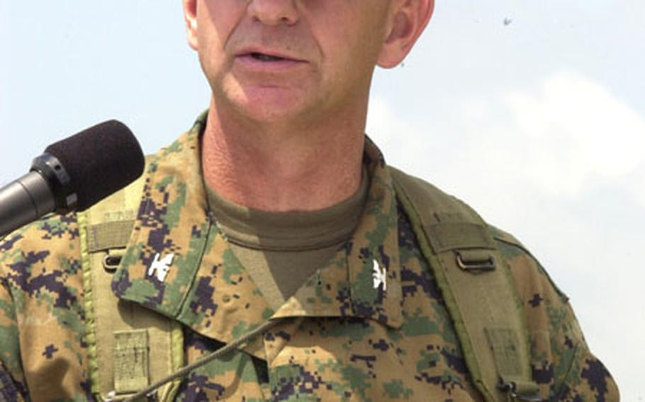 Col. John J. Jackson relieved Col. Henry Donigan III as Commanding Officer of Camp Fuji Friday.