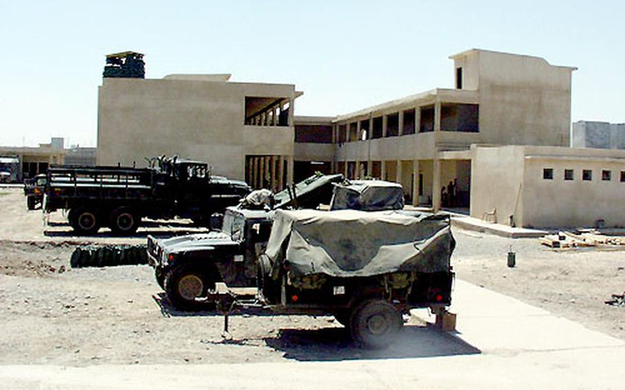 This former school for girls in Hawija, Iraq, is now being used as a base by soldiers in Company A, 1st Battalion, 508th Infantry Regiment.