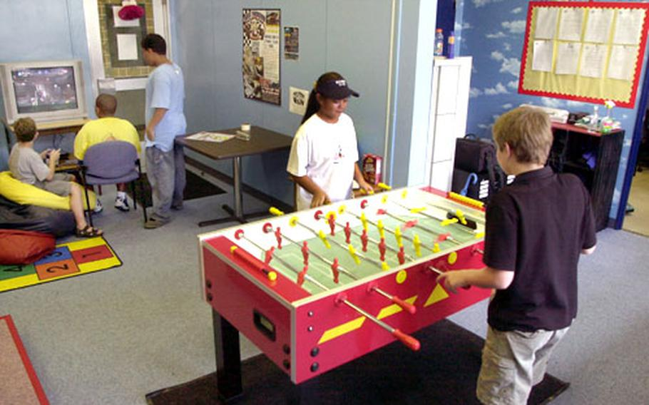 The Den, the pre-teen center at Sasebo Naval Base's Hario Housing Village, provides youngsters between the ages 10 and 12 a place to call their own.