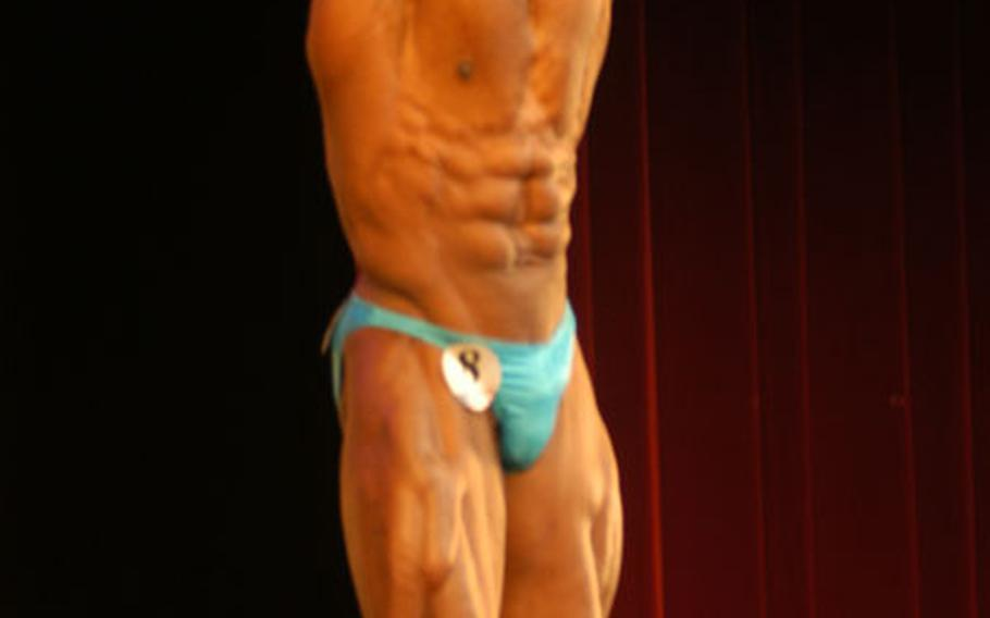Alexander Jackman Jr. took the overall men's title during the first International Natural Bodybuilding and Fitness, U.S. Armed Forces-Europe Natural Bodybuilding Championships held at the Performing Arts Center in Darmstadt, Germany.