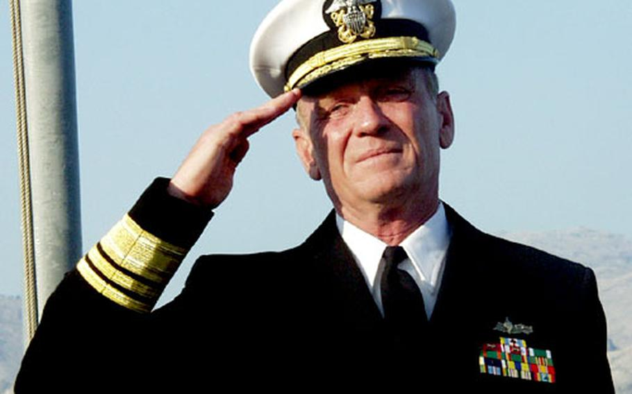 Vice Adm. Henry G. Ulrich III, the new 6th Fleet commander and commander of Striking and Support Forces Southern Europe.