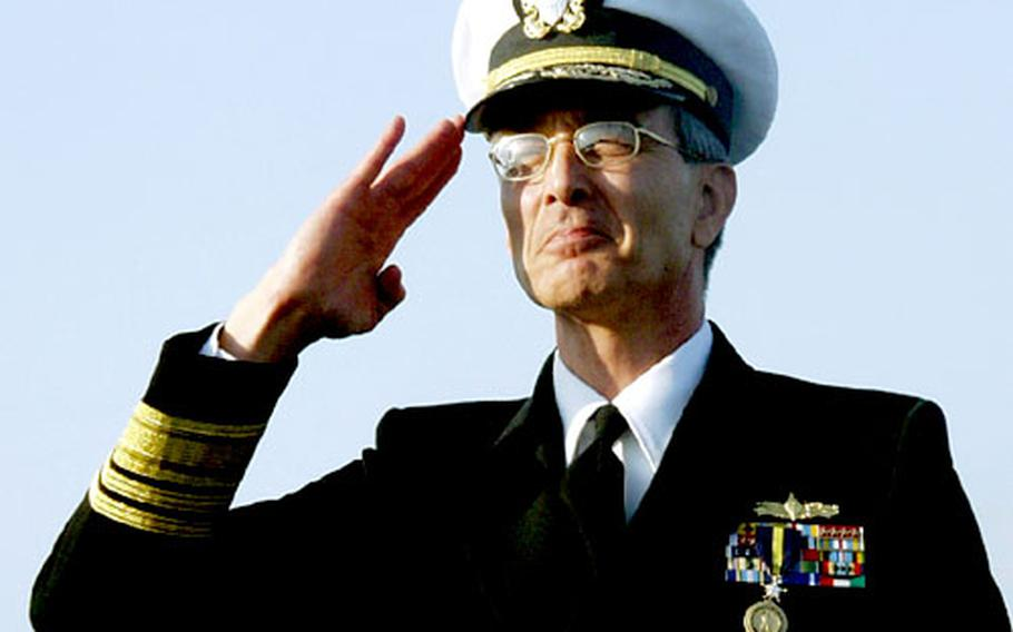 """Vice Adm. Scott A. Fry, who was called the """"finest operational commander in our Navy today"""" by Adm. Gregory Johnson."""