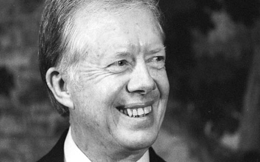 Former President Jimmy Carter in Frankfurt, Germany in October, 1982.