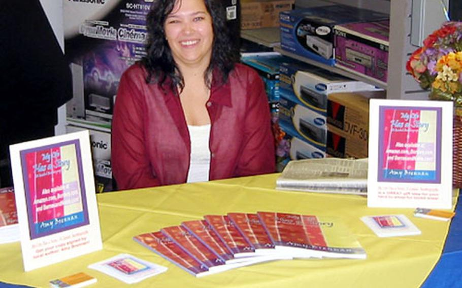 """Amy Brennan, a teacher at Ernest J. King High School at Sasebo Naval Base, Japan, has published her first book and recently held a book signing at the base's Navy Exchange store. The book, called """"My Life Has a Story: A Guided Autobiography,"""" is aimed at helping others write their life stories."""