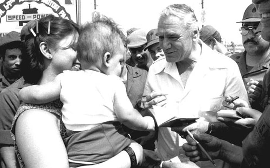 Ernest Borgnine meets his fans.