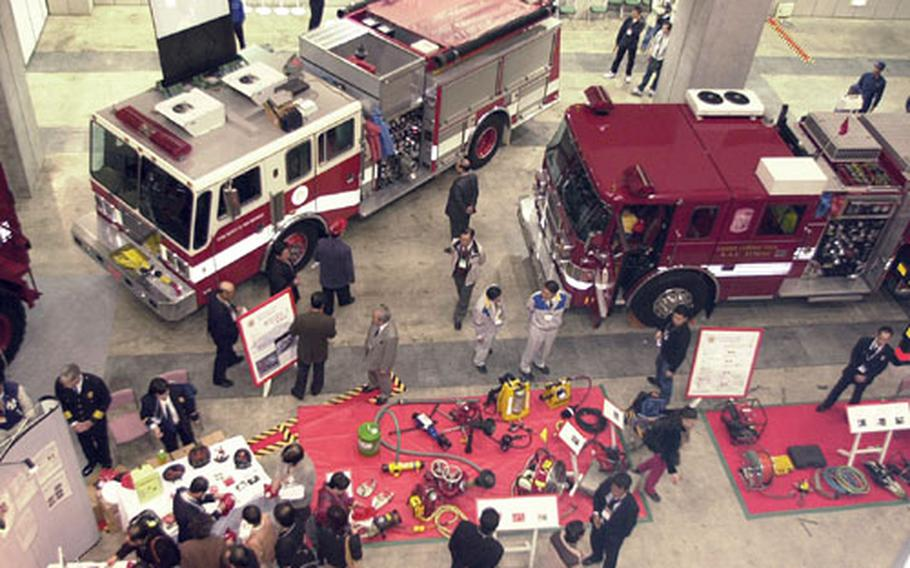 The Tokyo International Fire and Safety Exhibition is the largest in Japan.