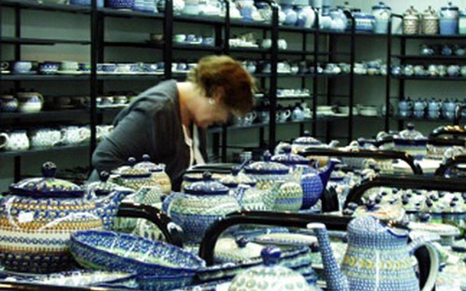 A pottery factory in Boleslawiec, Poland, where military personnel and Department of Defense civilians and their dependents buy many of the items they then sell on the Internet. A plate bought at the factory for $5 can sell for more than $35 on eBay.