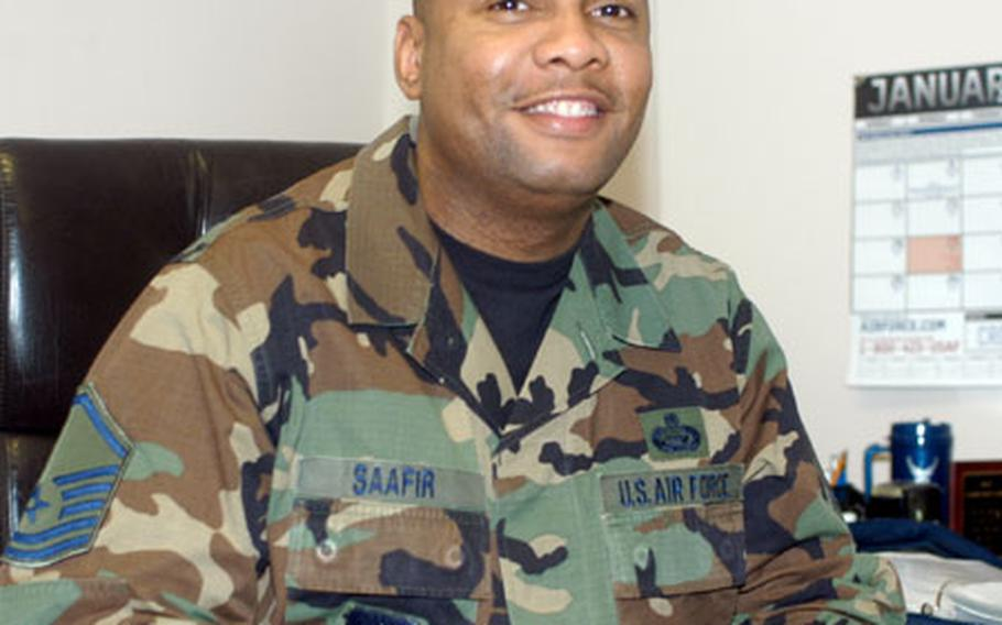 Air Force Master Sgt. Rahim Saafir, mission support flight superintendent, 469th Air Base Group, was named the 2003 Personnel Manager of the Year by U.S. Air Forces Europe.