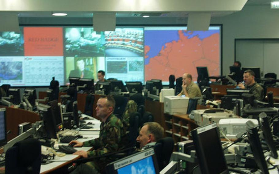 The U.S. European Command's Plans and Operations Center opened about seven months ago on Patch Barracks in Stuttgart, Germany, and EUCOM officials tout it as a new way for the military to do business.
