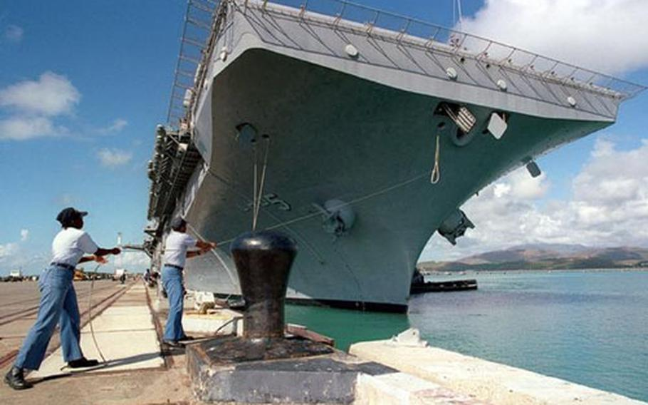 The USS Bataan arrives at Naval Station Roosevelt Roads, Puerto Rico.