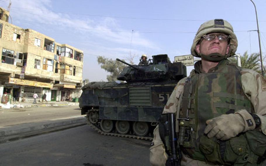 Sgt. John Kelley, of Company A, 2nd Battalion, 6th Infantry Regiment, was one of the first soldiers on the scene after Sunday's blast in downtown Baghdad.