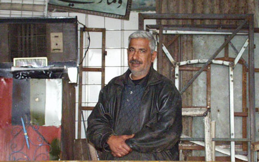 Metal worker Raad Jumah says he can't work in his smithy, and has even missed out on U.S. contracts, because of unreliable electricity. American officials say the situation is improving, and that the real rebuilding of Iraq's infrastructure has yet to begin.