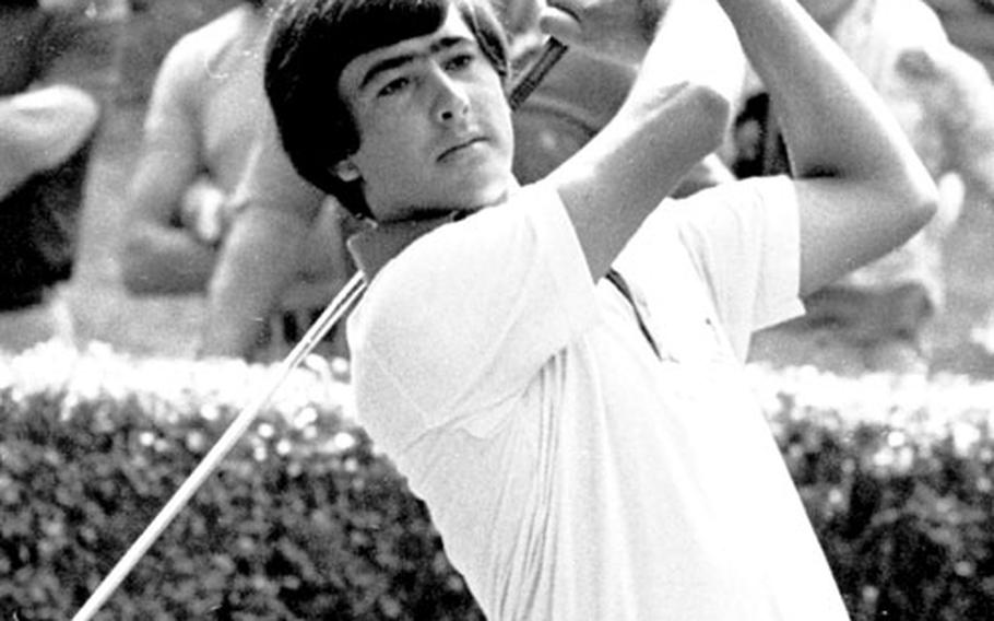 Teamed with Crosby's son, Harry, in the pro-am was young Seve Ballesteros, coming off a win in the Dutch Open.