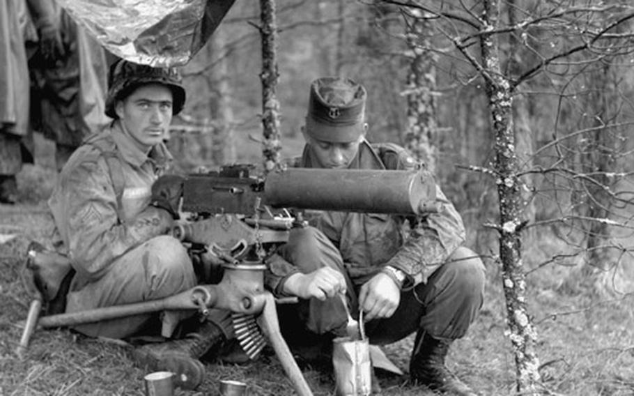 Scenes from a training exercise at Hohenfels, Germany, in May, 1956.