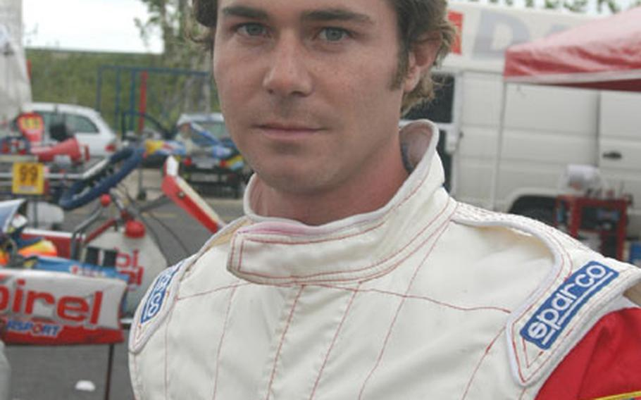 Paul Kloepping, former sailor who now races Go Karts professionally around Naples, Italy.