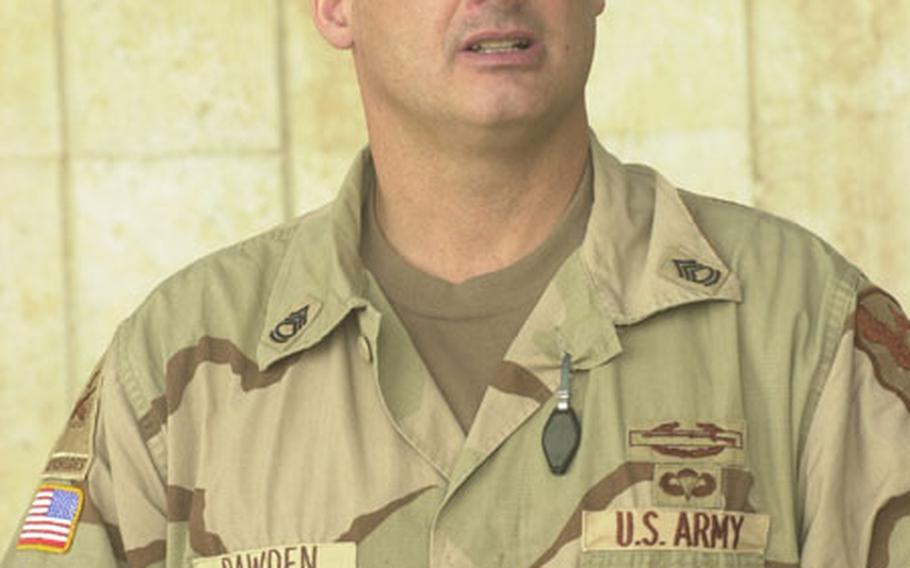 Sgt. 1st Class Douglas Bawden.