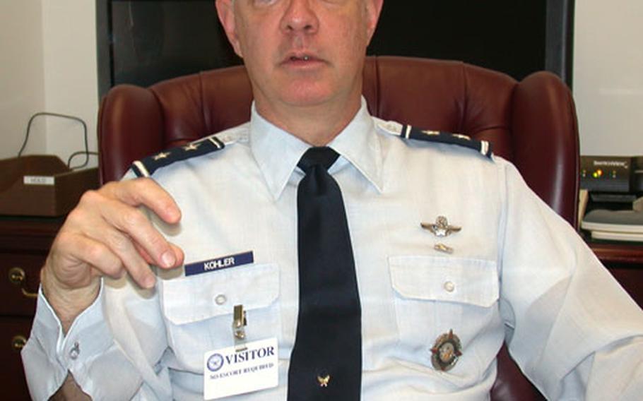 Air Force Maj. Gen. Jeffrey B. Kohler.
