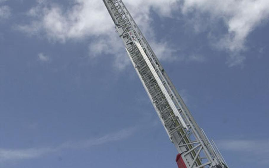 Marine Corps Base Camp Butler's Fire Department received this new ladder truck nearly two weeks ago. It's the tallest truck in any Department of Defense fire department in the Pacific, standing at just over 134 feet tall.