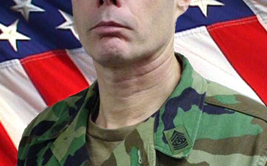 Command Sgt. Maj. Stephen Rannenberg.