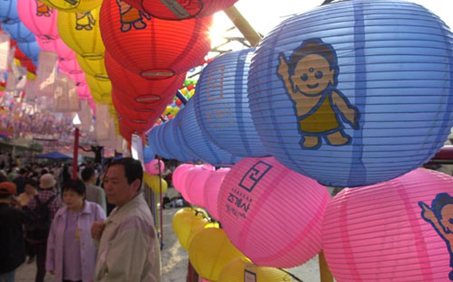 Thousands gathered last year at Chogyesa Temple in Seoul to celebrate Buddha's birthday.