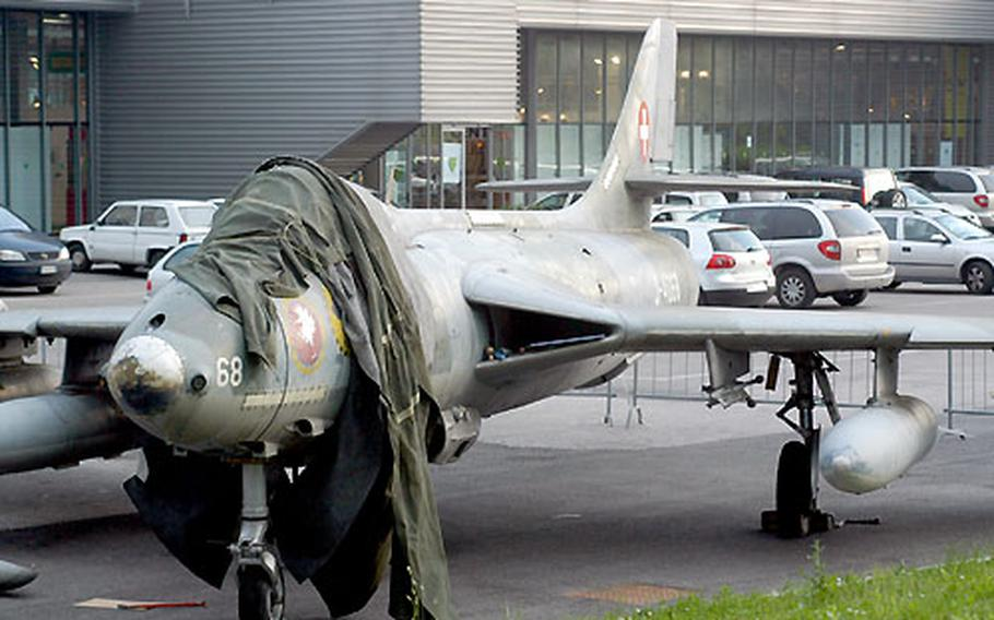 This Hawker Hunter fighter jet has spent the last three years at the fairgrounds in Pordenone, Italy, after several more years at Aviano Air Base while awaiting clearance through customs. Thanks to some help from airmen at Aviano, it'll soon move to its new home at a museum across town.