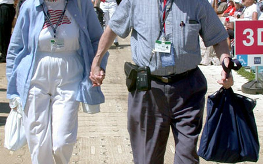 """William and Bernadette Schaufele still enjoy holding hands, even after 60 years of marriage, they said. """"Why do we hold hands? To hold each other up,"""" said William Schaufele, 84."""