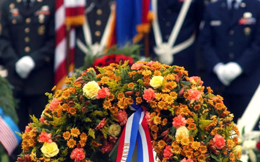 Dignitaries from several countries laid wreaths to honor U.S. servicemembers killed in World War II at a Memorial Day ceremony at the Netherlands American Cemetery and Memorial in Margraten, Netherlands.