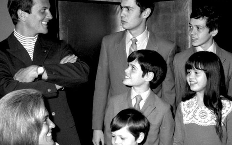 The day before they were to share the stage at Tokyo's Shibuya Hall in April, 1969, the Boone and Osmond families got together for a press conference.