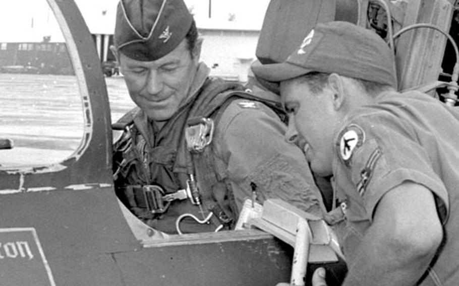 Col. Yeager prepares to take to the skies.