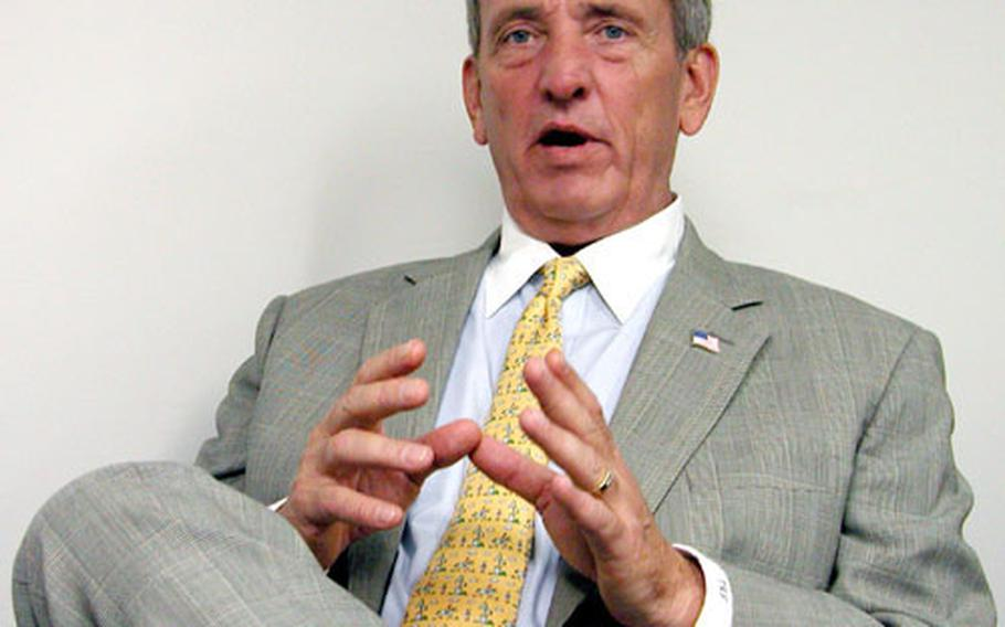 Retired U.S. Army Gen. Tommy Franks, during an interview at Stars and Stripes' office in Washington, D.C.