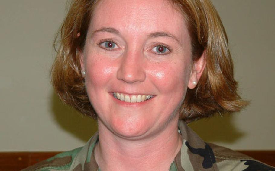 Air Force Capt. Samantha Blanchard, director of the Family Support Center on Kadena Air Base, Okinawa.