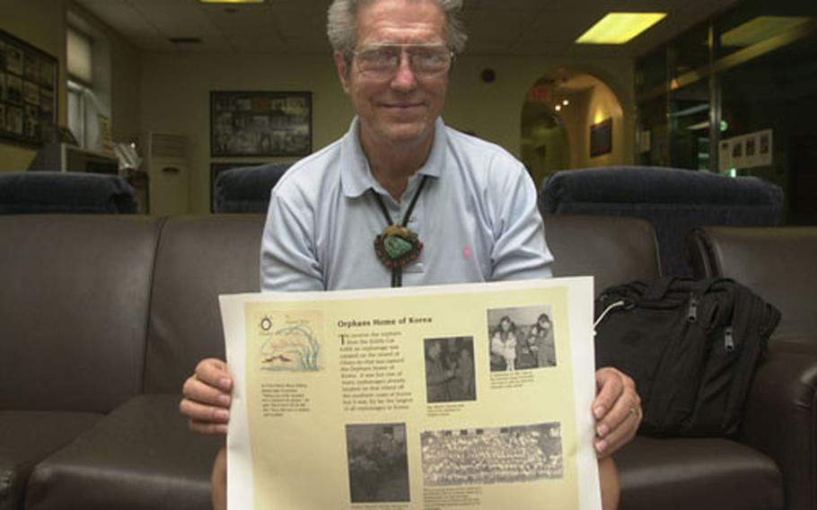 George Drake, a Korean War veteran, is on a quest to raise money for a memorial to the soldiers who saved thousands of Korean orphans. He visited Korea last month to meet with military and civilian officials.