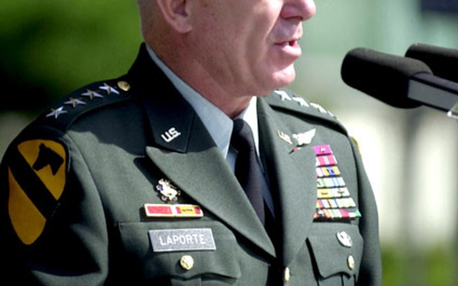 USFK commander Gen. Leon J. LaPorte says $1.1 billion in high-tech upgrades will bolster security despite a drawdown in troops.