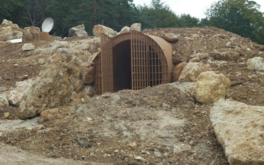 The Combat Maneuver Training Center's Schwend cave sits in a former rock quarry in the massive training area in Hohenfels, Germany. Metal gates on the entrance keep wildlife out of the caves, which soldiers use to practice cave-clearing skills.