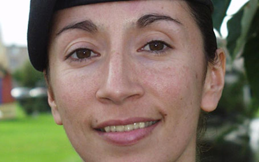 Army Master Sgt. Chantel Sena-Diaz is the project manager of the 1st Armored Division effort to honor the division task force soldiers killed during Operation Iraqi Freedom 1.